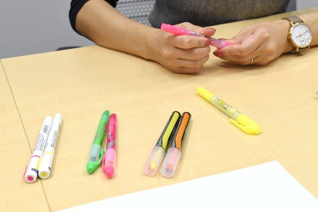 菅さんイチオシの蛍光ペンたち。地味に便利な進化を遂げた逸品ぞろい