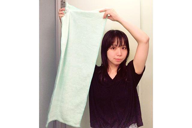 タオルの大きさは38×85cm