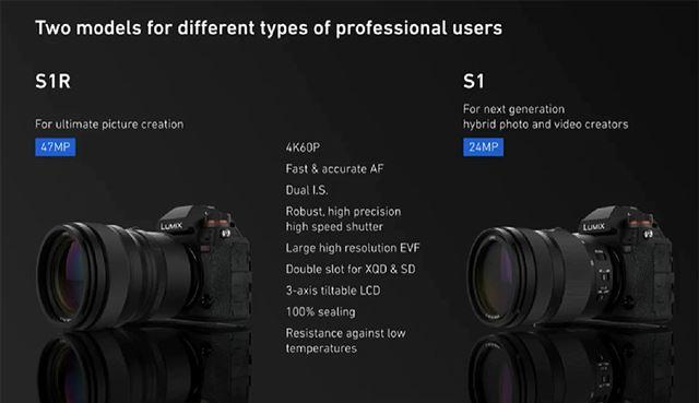 4K/60p動画撮影などのハイスペックを実現するLUMIX S1R/S1。2019年初頭の発売予定だ