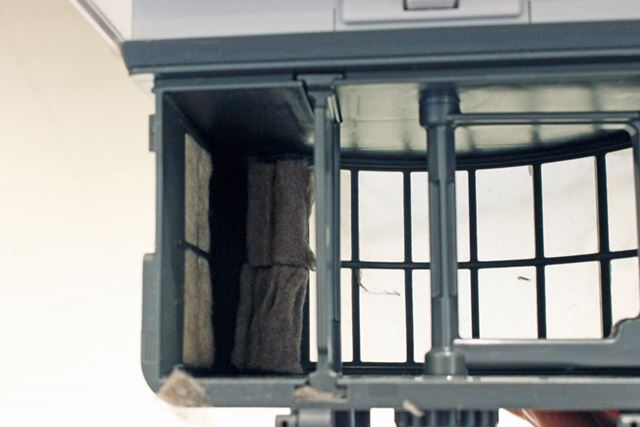本物のゴミも、ダストボックスにきちんと収納。カーテン状にゴミが蓄積されていくそうです
