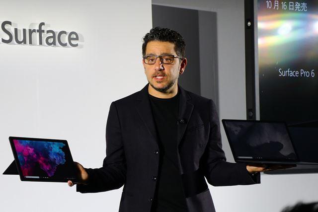 Surfaceシリーズの開発を統括するパネイ氏。Surfaceのキーパーソンだ