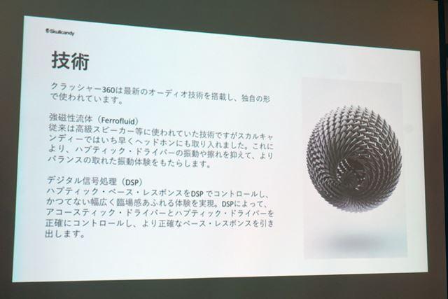 高級スピーカーにも使われている強磁性流体を初採用