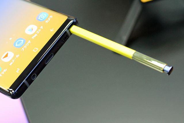 新しいSペンは、Bluetooth接続となり、アプリのリモコンとしても利用できる