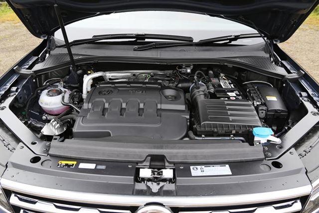 VW「ティグアン TDI」に搭載されているEA288型 2リッターTDIエンジン。