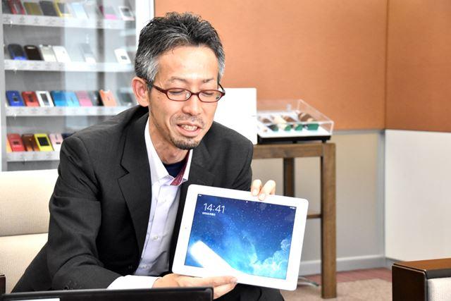 戸村氏が愛用するiPad。単身赴任時代、家族とのコミュニケーションに役立ったという