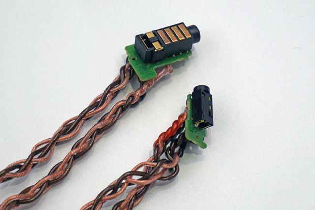 アナログ基板とヘッドホン出力の間にはキンバーケーブルを使用