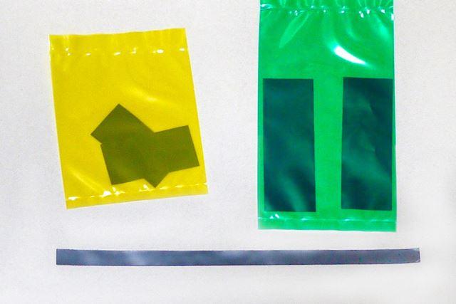 シーリング処理を再現するため、ビニール素材のパーツが太、中、細の3セット付属