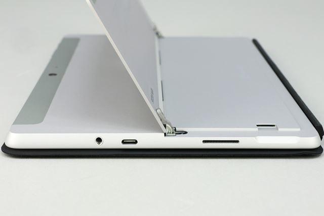 外部インターフェイスは右側面に配置されている