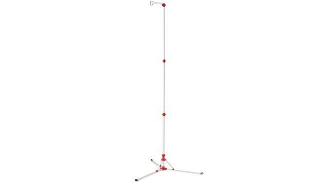 サイズ(使用時/収納時)は約109(幅)〜226(高さ)cm/11(直径)×90(高さ)cmで、重量は約1.4kg