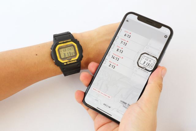専用アプリ「G-SHOCK Connected」は、iOSとAndroid端末に対応