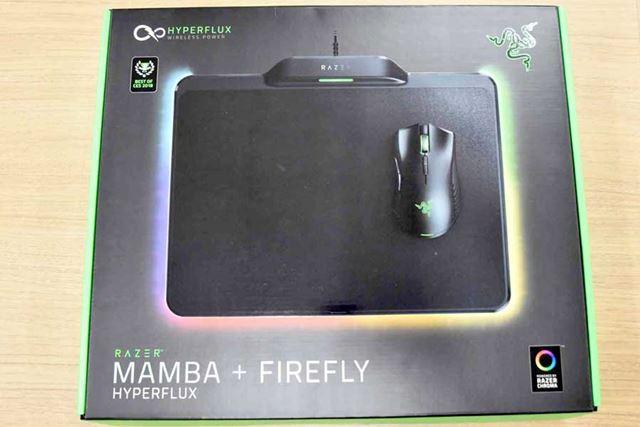 「MAMBA HyperFlux」の箱は、このようなデザイン。サイズはやや大きめだ