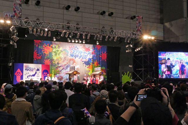 「第4回 スプラトゥーン甲子園」の関東地区大会が行われていた「スプラトゥーン」のブース