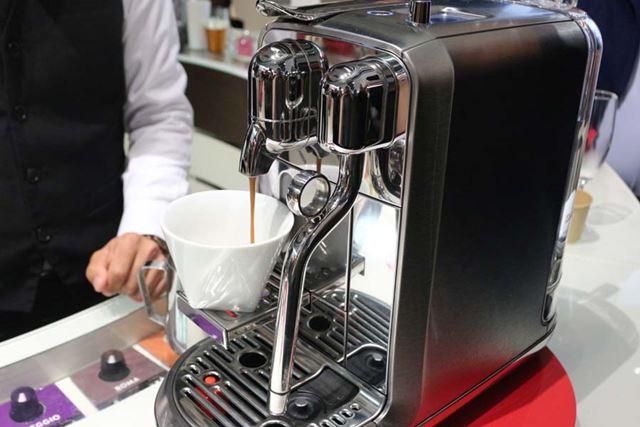 コーヒーが抽出されます