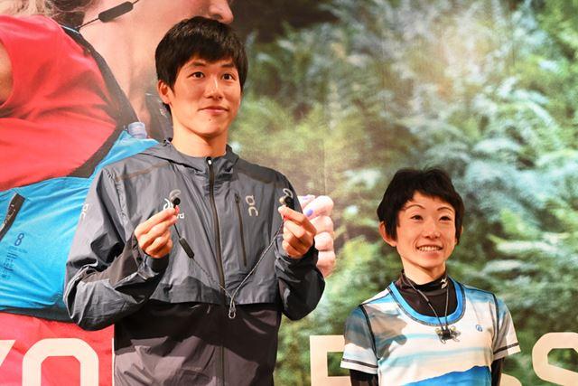 ランナーの川内鮮輝氏と吉住友里氏