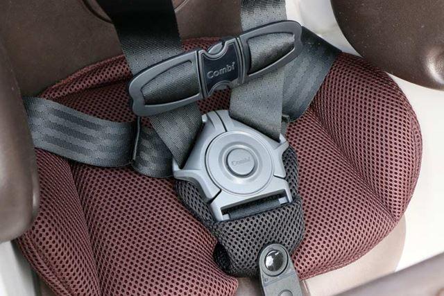 子どもが振り落とされないように守るベルトは、安全性の高い5点式
