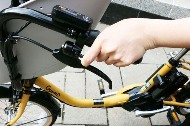 ブレーキレバーと一体となったベルの配置は、いいアイデア! とても使いやすい