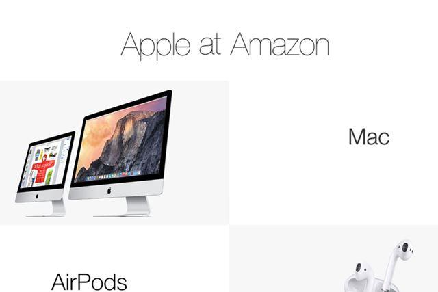 アメリカのAmazon.comでは「Apple at Amazon」という専用ページが公開中