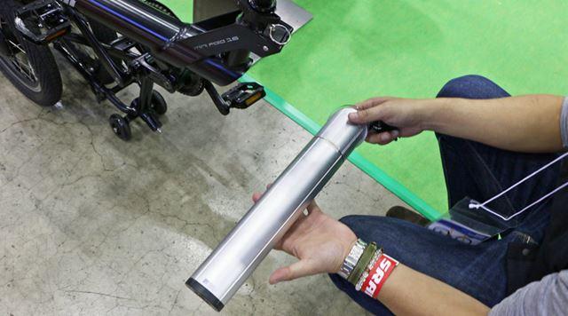 バッテリーはフレームの中に入れ込む方式。アシストレベルは4段階から選択できる