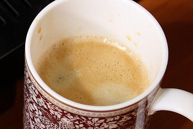 間欠抽出を2回行うカフェ・ジャポーネは、初期設定で約180mlを淹れることができます