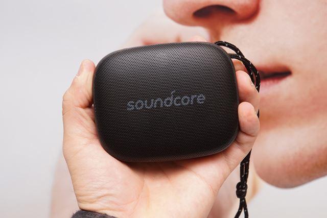 「Soundcore Icon Mini」は、手のひらに収まるほどのコンパクトボディが特徴
