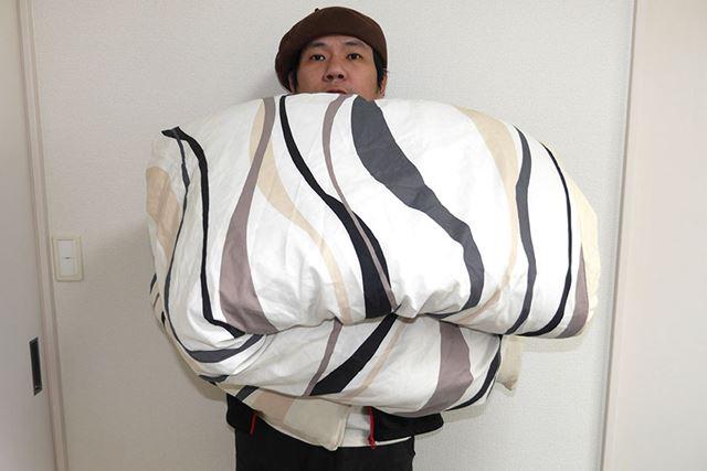 普段使っている掛け布団が約2kg