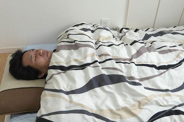 まずは普通の布団で寝たときのデータを