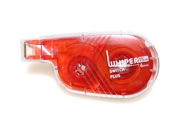 横引きタイプのボディが修正テープベタでも使いやすい「ホワイパースイッチ」の「6mmタイプ」