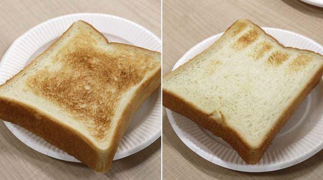 「すばやき」で焼いたトースト。食べてみると、外側のカリカリ感が印象的でした