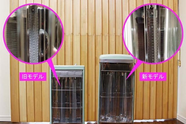 グラファイトヒーターを旧モデルと新モデルで見比べてみましたが、大きな違いがあるようには見えません