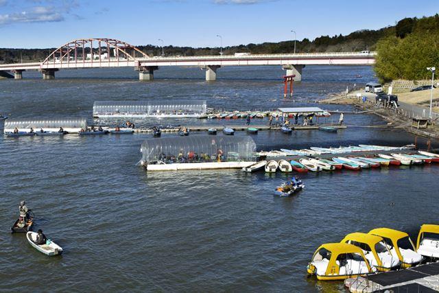 安全で暖かい「桟橋ドーム」は3か所設置