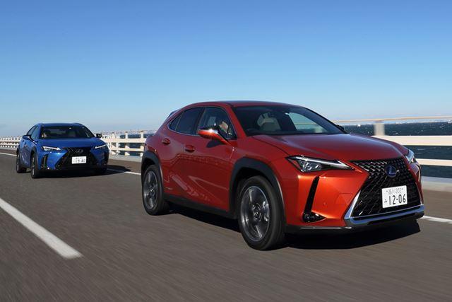 レクサス「UX」のハイブリッドは、ガソリンエンジンに比べて動力性能が高く、静粛性も良好だ
