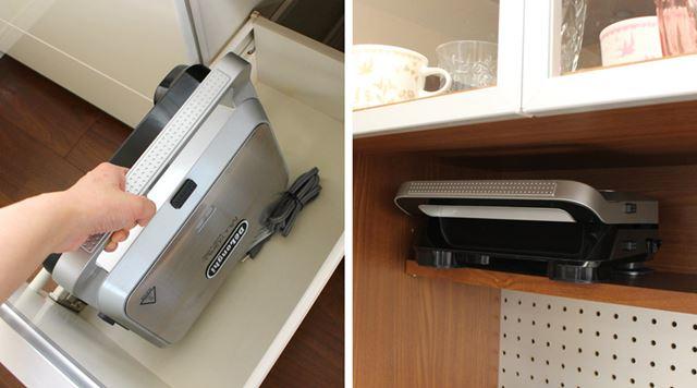 キッチンの流しの下や、食器棚のちょっとしたスペースに入れられるのも、コンパクトなサイズのおかげ