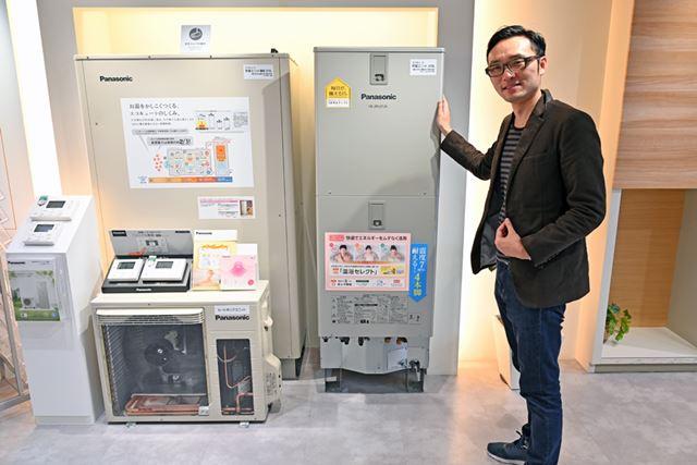 東京・新橋にある「パナソニック リビング ショウルーム」には「エコキュート」も展示されています