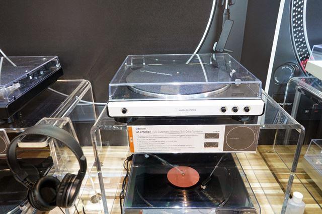 オーディオテクニカのBluetooth搭載ターンテーブル入門モデル「AT-LP60XBT」