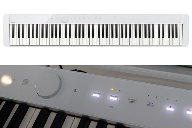 フラットな操作パネルに、LED点灯するグラフィカルなタッチセンサーを搭載
