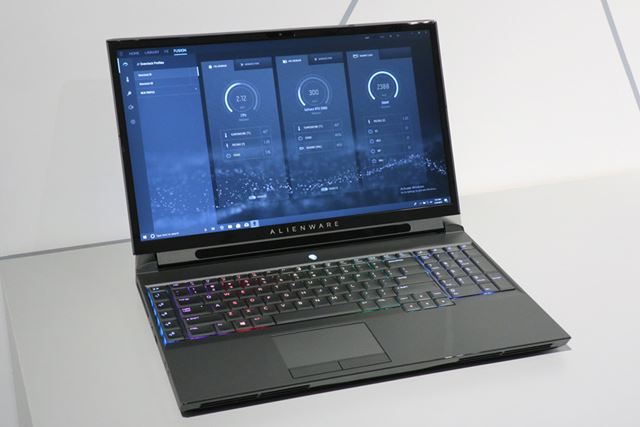 デスクトップ用のCPUを搭載するNEW ALIENWARE AREA-51m(ダークサイド オブ ザ ムーンモデル)