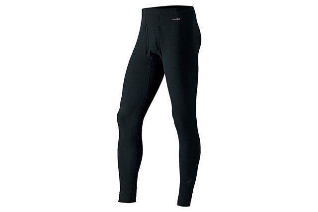 温かく動きやすい「ジオライン」の厚手タイツ。冬季登山やスノースポーツ時の着用に最適