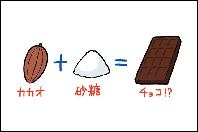 こんなシンプルな材料でチョコレートって作れるの!?