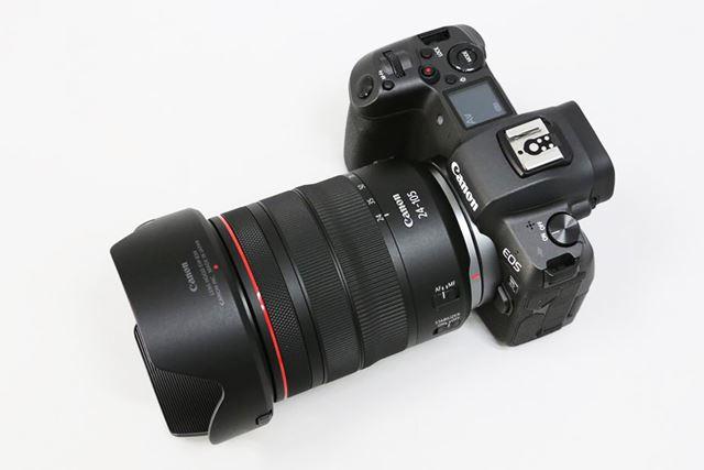 今回、キヤノン「EOS R」の撮影で使用したレンズは、標準レンズの「RF24-105mm F4 L IS USM」です