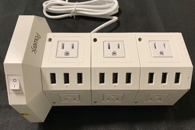 USBポートは9個口もあります