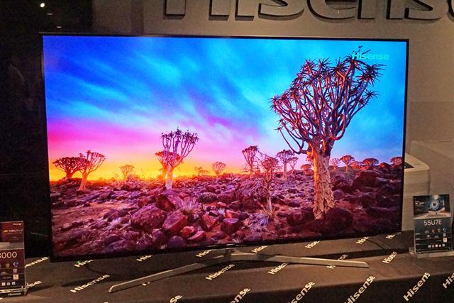 4K液晶テレビのフラッグシップモデル「U7E」シリーズは、65型と55型の2サイズ展開