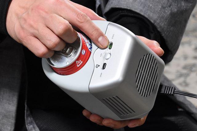 冷/温の切り替えは上部のスイッチで。これだけでもう、常時飲み頃キープです