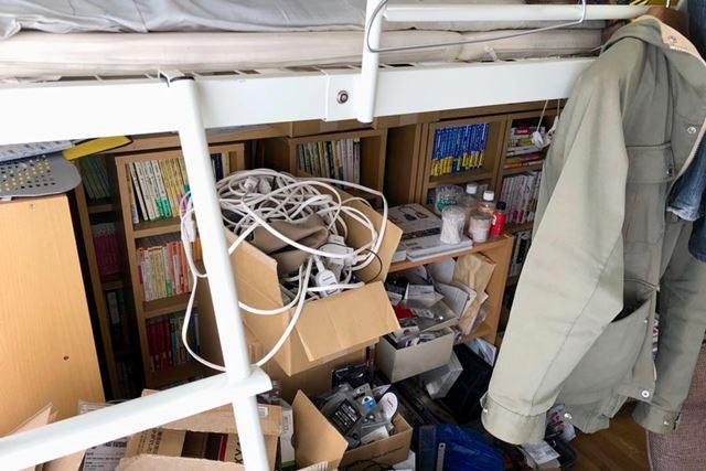 ハイベッド下のスペースまで使い切っている状況では、家電設置スペースは最小限に抑えたい