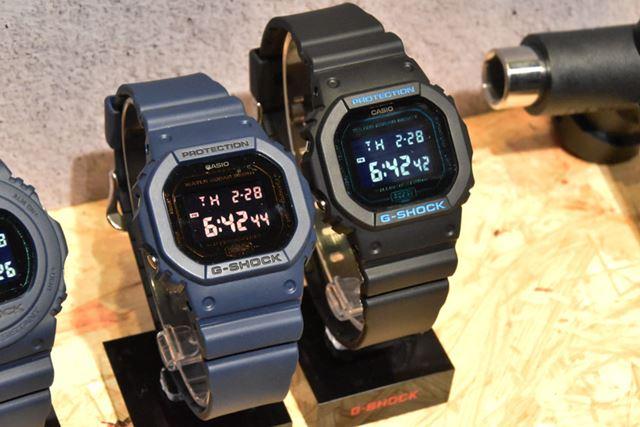 原点でありマスターピースの「DW-5600BBM-2JF」(左)と「DW-5600BBM-1JF」。各12,420円(税込)