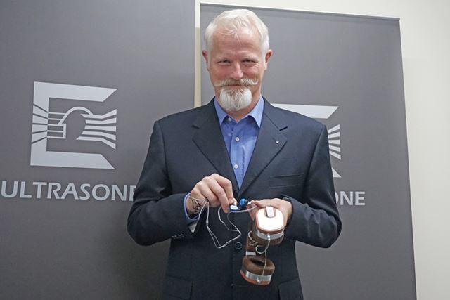 新製品を持って来日したULTRASONE CEOのMichael Willberg氏