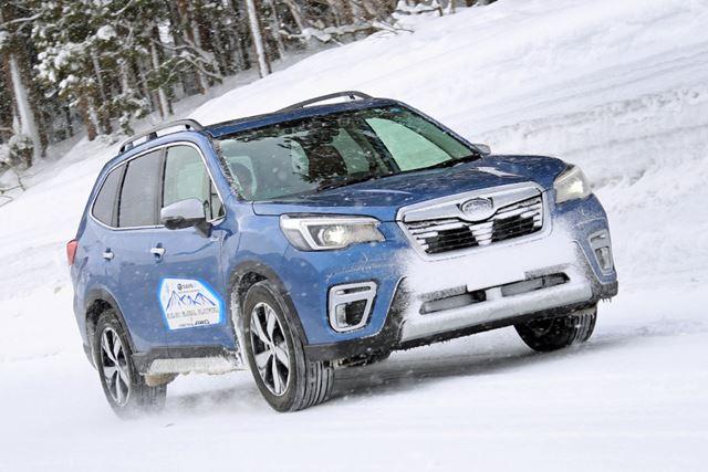 スバル「フォレスター アドバンス」の雪上試乗イメージ