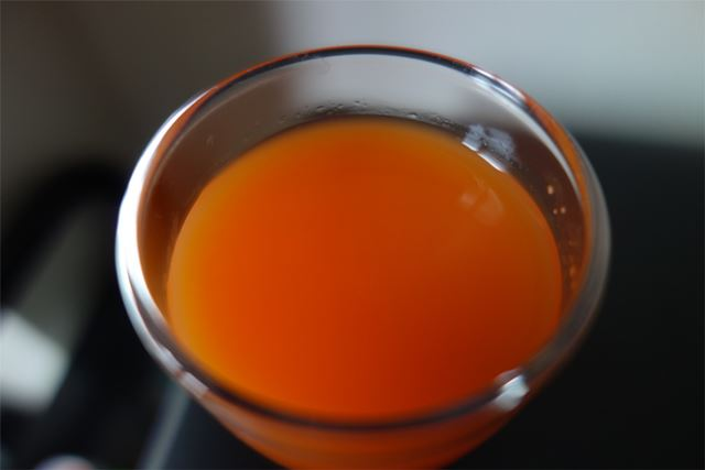 キレイなオレンジ色。にんじんの色ですかね?