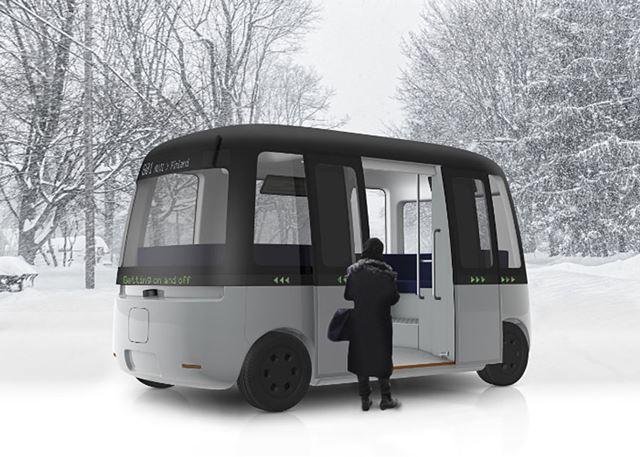 無印良品がデザイン提供する自動運転バス「Gacha」