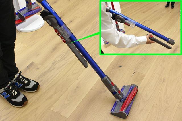 付属ツールを本体のパイプに取り付けたままで掃除ができるようになりました