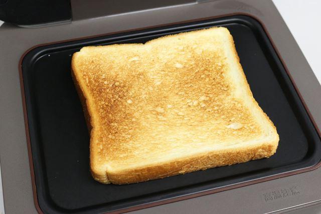 焼き色を「サクサク」にすると、一般的なトースターで焼いたようなサクサクの食感にすることもできます